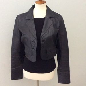 Charlotte Russe  Leather Crop Jacket